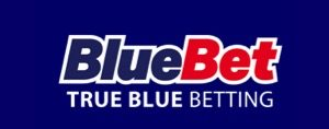 Bluebet review logo in blue