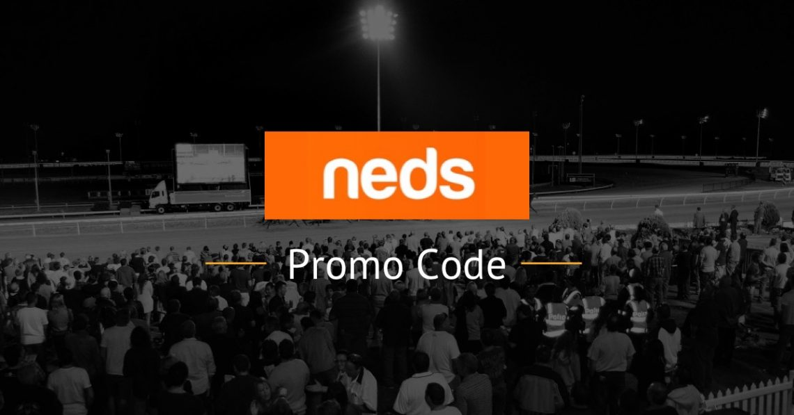 neds promo code text with logo and horses racing