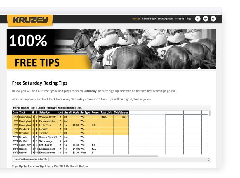 Free horse tips Australia